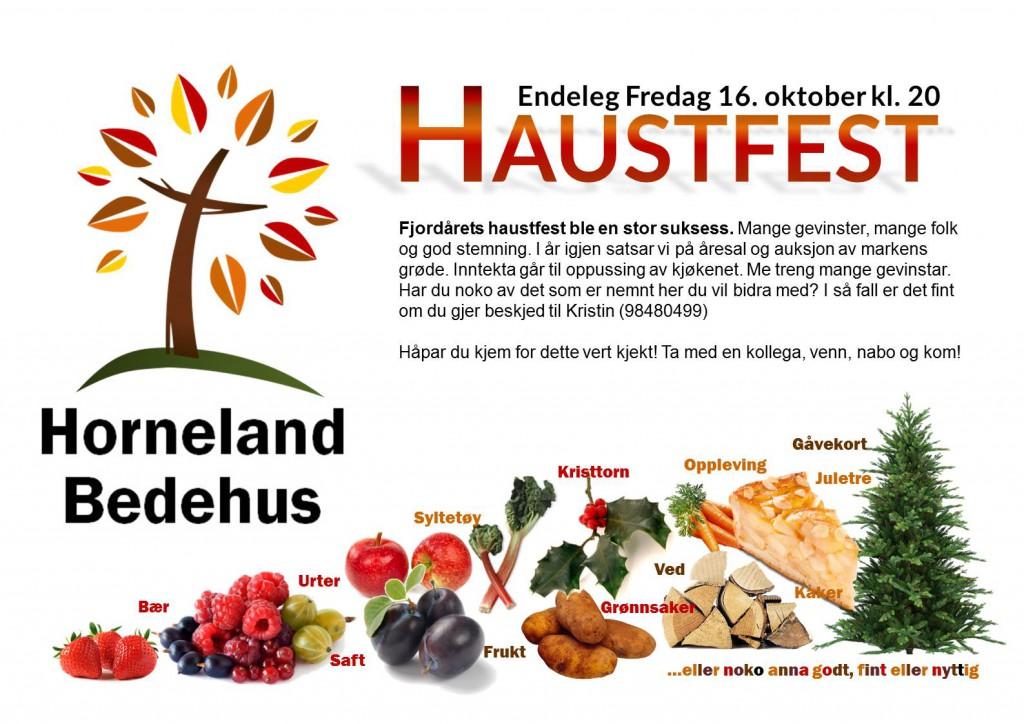 Endeleg Fredag - Haustfest - Horneland Bedehus 2015