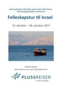 Brosjyre - Aase og Bjerkreim Israelstur 19.-28.10.17 mindre